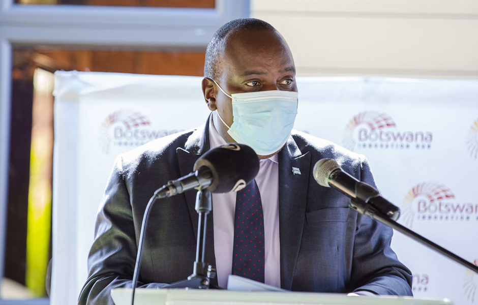 Hon. Dr Douglas Letsholathebe - Minister of Tertiary Education, Research Science and Technology